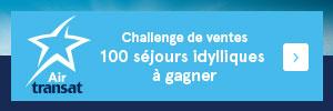 Challenge de ventes Air Transat : 100 séjours à gagner