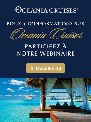 Participez au webinaire Oceania Cruises