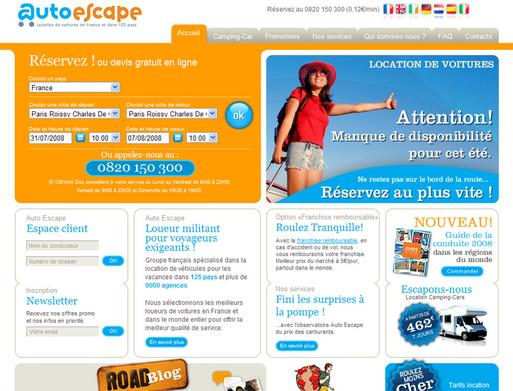 Auto Escape réduit ses pertes au 1er semestre 2008