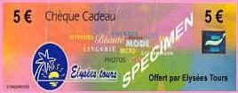 Elysée Tours : incentive et chèques cadeaux