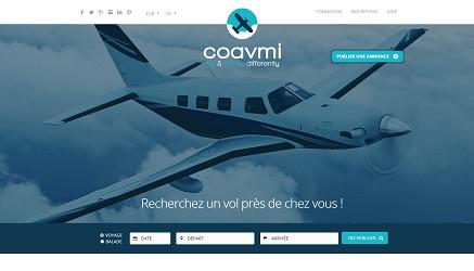 Coavmi est l'une des plateformes Internet de coavionnage - Capture d'écran