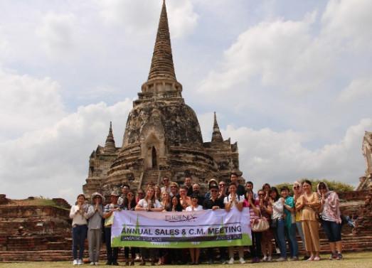 Les équipes ont profité de la réunion pour visiter l'ancienne capitale Ayutthaya - Photo : Phoenix Voyages
