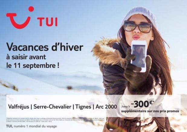 TUI lance une offre spéciale sur sa productionHiver 2016-2017 - DR : TUI France