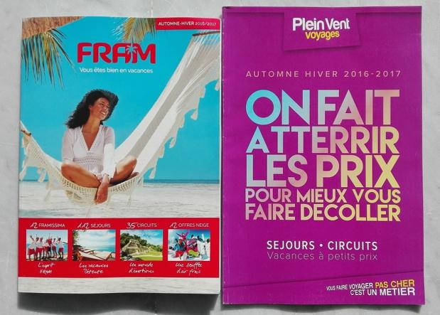 Les deux brochures arriveront en agences de voyages dans les jours qui viennent - Photo : P.C.