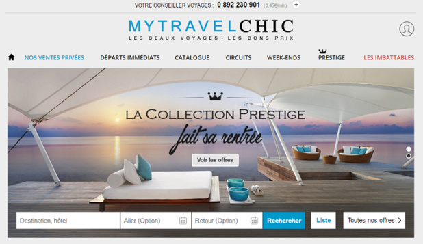 MyTravelChic tombe dans l'escarcelle du groupe Galeries Lafayette - Capture d'écran