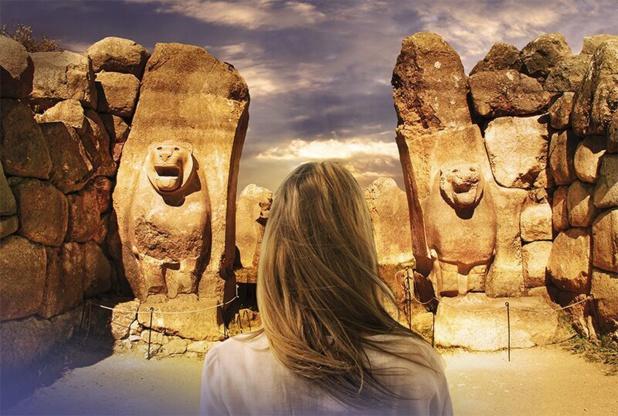 Porte aux lions, site d'Hattuşa-Anatolie Centrale