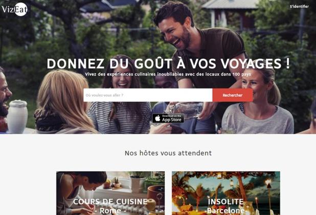 La start-up VizEat a mis les bouchées doubles et compte bien se développer à l'international (c) homepage VizEat