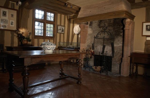 Dans l'initimité de Pierre Corneille. Intérieur de la maison  de Petit-Couronne. Photo Rouen Normandie T.C.