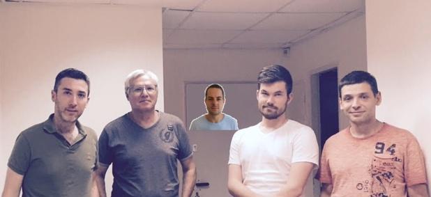 La team Save a Train (de gauche a droite) : Johann Gahnassia, Ishay Erel, Udi Sharir, Max Dubinin et Timo Moss - DR : Save a Train