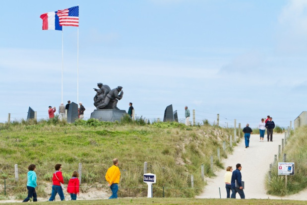 Sainte-Marie-du-Mont Utah Beach. Mémorial US Navy. Photo T. Houyel - CDT.
