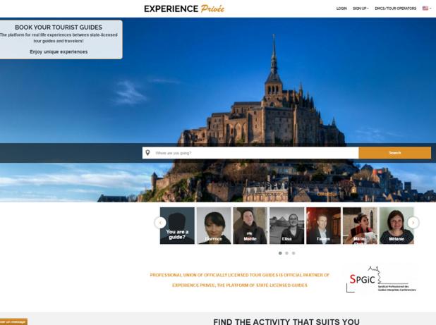 Capture d'écran du site Internet d'Expérience Privée