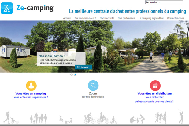 La centrale d'achat Ze-Camping souhaite étendre ses partenariats B2B - Capture écran
