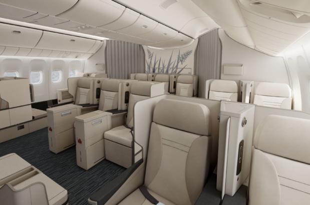 La nouvelle cabine d'Air Austral passera de 18 à 14 sièges. DR Air Austral