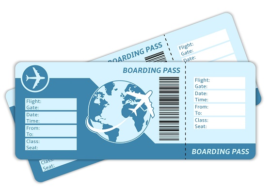 Les cartes d'embarquement contiennent de nombreuses informations sur le passagers et son voyage - Photo : macrovector-Fotolia.com