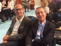 Patrice Caradec (à gauche), patron de Transat France, avec Pascal de Izaguirre, patron de TUI France - Photo : D.G.