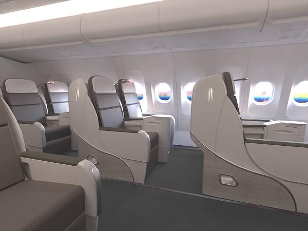 La nouvelle classe Business sera à l'avant des Airbus et sur le pont supérieur des Boeing - Photo : Corsair