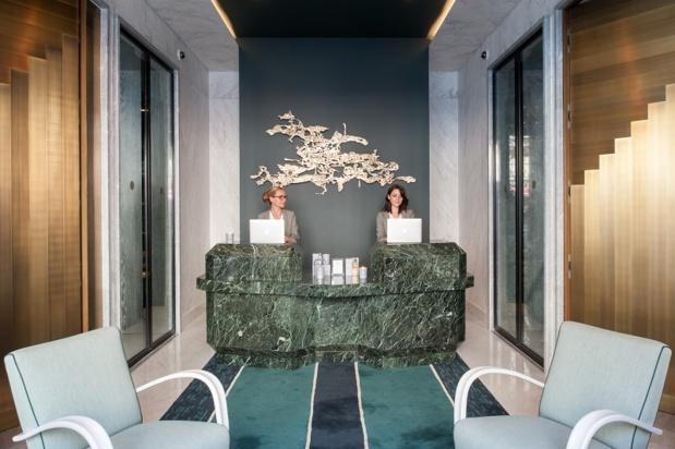 La réception du Nolinski Paris - Photo : Evok Hôtels Collection