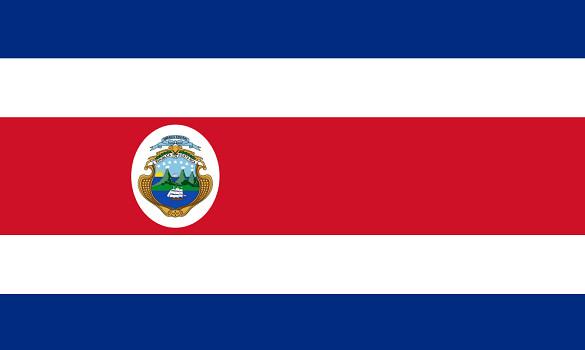 Drapeau du Costa Rica - DR : Wikipedia