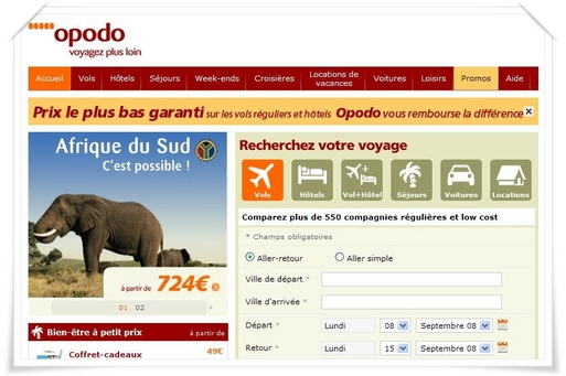 I - Opodo : '' De plus en plus d'acheteurs en ligne !''