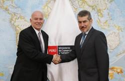 Eduardo Ferreyros, Ministre du Commerce Extérieur et du Tourisme du Pérou et Roger Espinoza Valencia, Vice-Ministre du Tourisme - DR