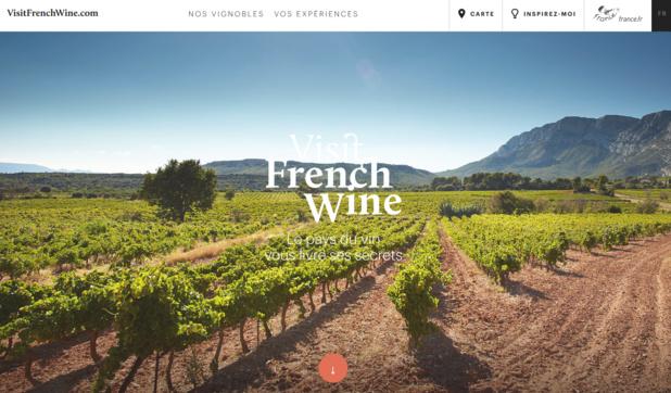 Le 9 février 2016 le Quai d'Orsay lançait le site www.visitfrenchwine.com avec l'objectif d'améliorer la promotion de l'ensemble des destinations et marques œnotouristiques françaises - Capture écran