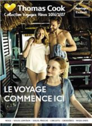 Couverture de la nouvelle brochure distributeur de Thomas Cook - DR : Thomas Cook