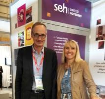 Stéphane Barrand directeur général SEH  (en charge de Relais du Silence) et Elisabeth Sirou directrice des ventes tourisme - Photo MS