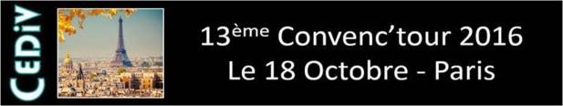 Le Cediv organisera son 13e Convenctour à Paris