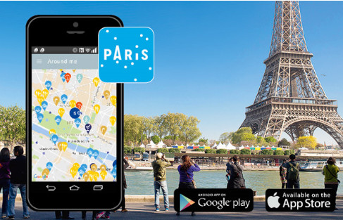 Welcome to Paris est disponible sur Google Play et App Store - DR : OTCP