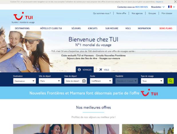 On sent bien que la grosse machine est lancée, avec des moyens conséquents, même si l'on ne connait pas encore les futurs bons résultats issus du marché français - Capture d'écran TUI.fr