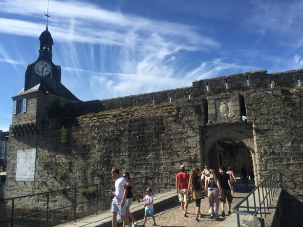 Bridge of the walled city of Concarneau (photo: SHD)