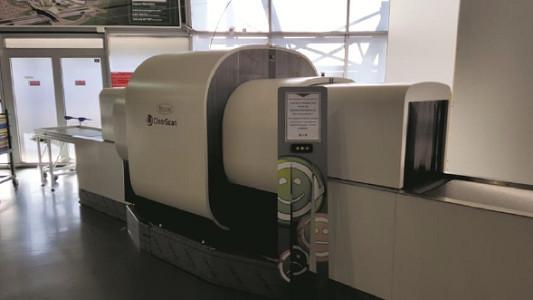 EDS cabine CLEARSCAN développé par L3 Communications et distribué par VISIOM - Photo : Aéroports de Lyon