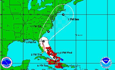 L'ouragan Matthew se rapproche des côtes américaines - DR : NOAA