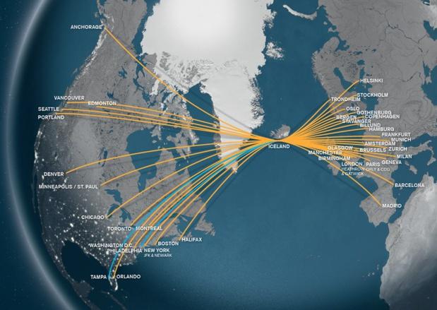 Le réseau d'Icelandair - DR
