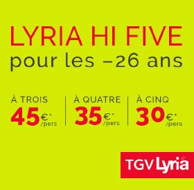 TGV Lyria lance une offre pour les jeunes de moins de 26 ans