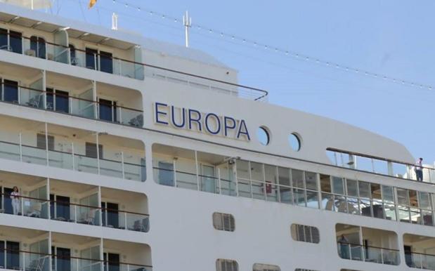 L'Europa est le premier navire de croisière à venir en escale à Tunis depuis l'attaque du musée du Bardo en 2015 - Photo : DR