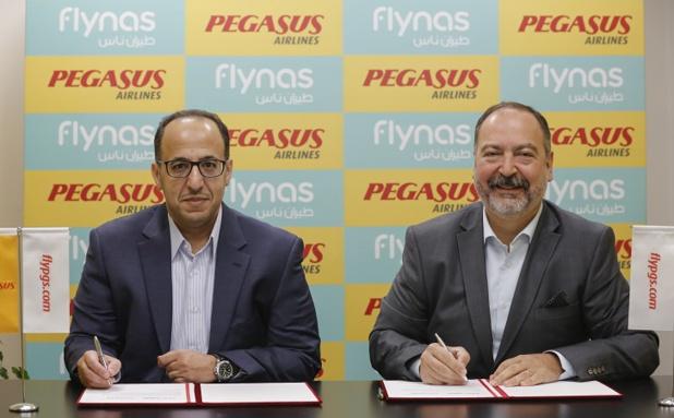 L'accord entre Pegasus Airlines et Flynas a été signé jeudi 6 octobre 2016 - Photo : DR