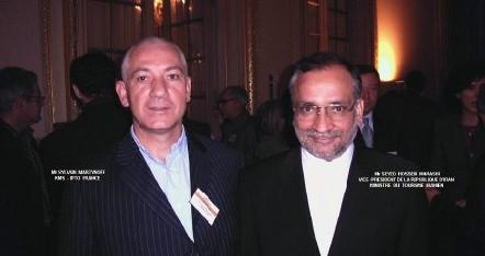 Sylvain Martinoff, réceptif KMS-IPTO France et Seyed Hossein Marashi, ministre du tourisme (dte)