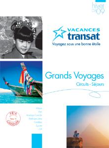 Vacances Transat se diversifie sur l'Egypte et l'Asie