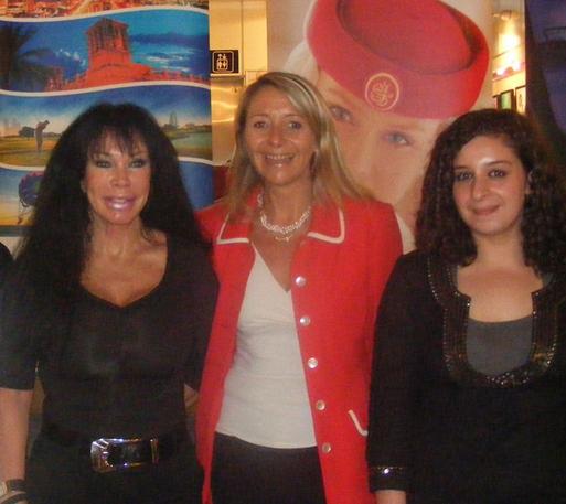 Colette Vieira Da Silva, PDG du TO Croisitour, Françoise Le Glouannic responsable vente d'Emirates à Nice et Souhila Taarabit, responsable promotion de l'OT de Dubaï