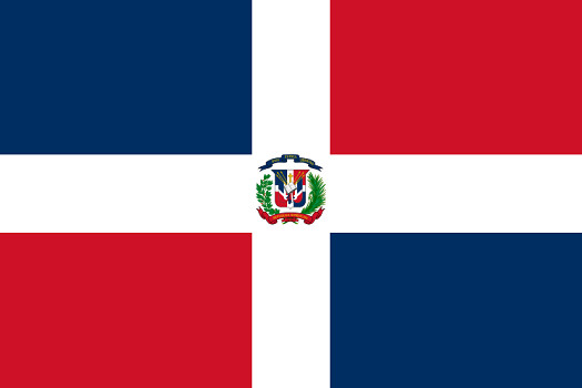 Drapeau de la République Dominicaine - DR : Wikipedia