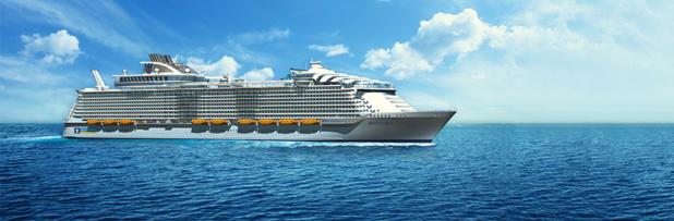 Harmony of the Seas Ship of Royal Caribbean International, built in Saint-Nazaire