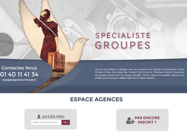 Premium Travel est spécialisé dans les voyages de groupes - DR Capture écran