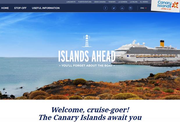 Ce site fournit aux voyageurs souhaitant faire escale aux îles Canaries les informations nécessaires concernant les activités proposées et les sites à découvrir - Photo Capture écran