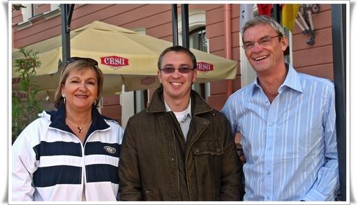 Carole PELLICER & Joost BOURLON, (dte) respectivement PDG et DG délégué de Plein Vent avec le réceptif Marius MAURAGAS (Baltic Blues Travel) - CLIQUER POUR AGRANDIR