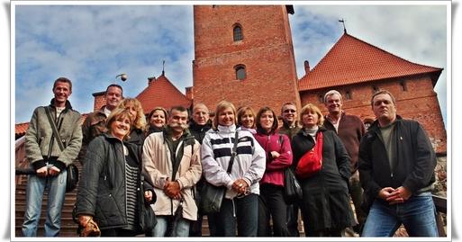 Visite au Château gothique de Trakaï (Lituanie) unique bâtiment bâti sur l'eau en Europe du Nord. ( CLIQUER POUR AGRANDIR)