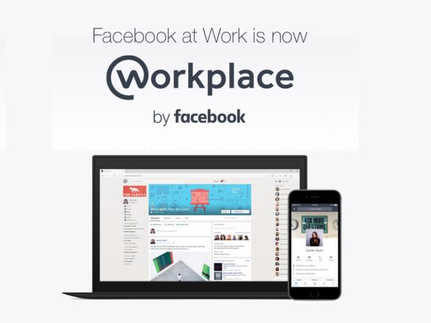 La firme de Mark Zuckerberg a bien compris l'intérêt d'utiliser ce genre d'outils de collaboration sur le lieu de travail et compte bien concurrencer les réseaux existants comme Slack en lançant un prix agressif (c) Workplace by facebook