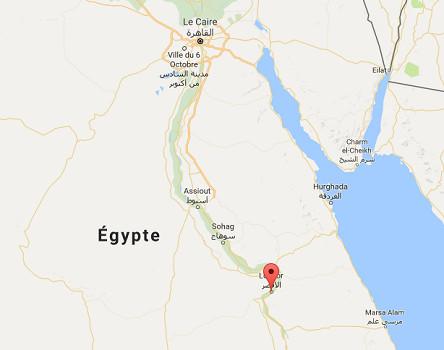 Pour le comité exécutif de l'OMT, Louxor est la capitale mondiale du tourisme en 2016 - DR : Google Maps