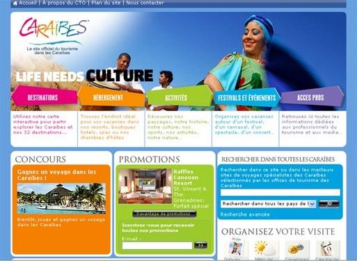 Caraïbes : un nouveau portail web en version française