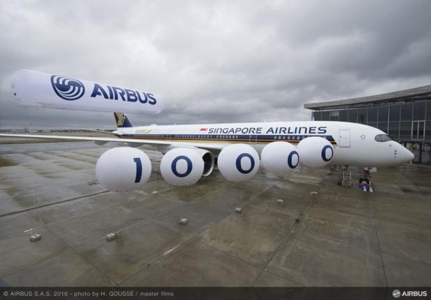 Singapore Airlines a pris livraison d'un un Airbus 350-900 - Photo Airbus